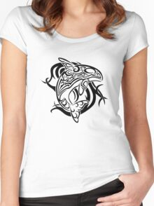 Tribal Orca Women's Fitted Scoop T-Shirt