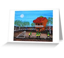 """Ned Kelly Gang World Cup Fever"" Original Acrylic Australian Painting; SOLD Greeting Card"