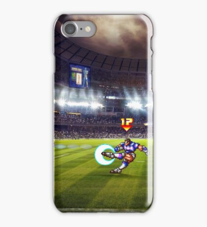 Soccer Brawl pixel art iPhone Case/Skin