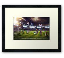 Soccer Brawl pixel art Framed Print