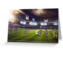 Soccer Brawl pixel art Greeting Card