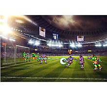 Soccer Brawl pixel art Photographic Print