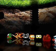 Dig Dug pixel art by smurfted