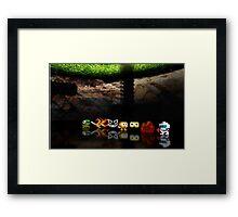 Dig Dug pixel art Framed Print