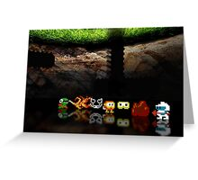 Dig Dug pixel art Greeting Card