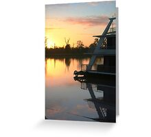 Sun rise on the Murray River Greeting Card