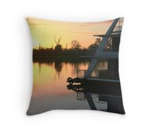 Sun rise on the Murray River Throw Pillow