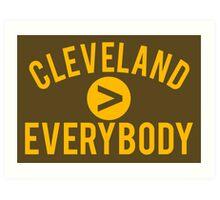 Cleveland > Everybody - Browns Art Print