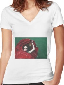 Water Bed Women's Fitted V-Neck T-Shirt