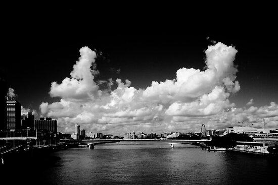 Brisbane River -  Southbank by Damon Lancaster