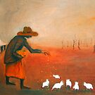 """""""Feeding the chooks"""" by Mary Taylor"""
