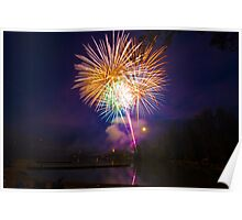 Fourth of July Fireworks - Lake Wilderness Poster