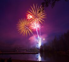 Fourth of July Fireworks - Lake Wilderness by RavenFalls