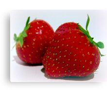 A Sweet Strawberry Duo. Canvas Print