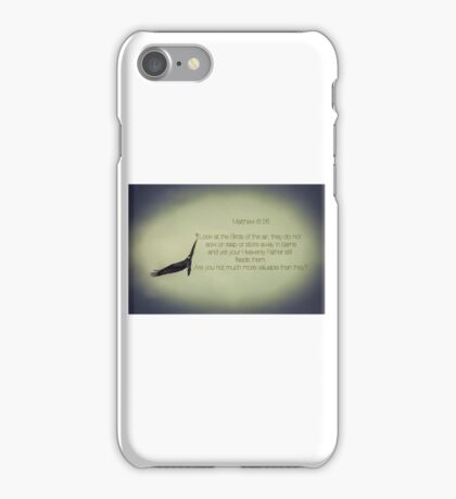 Don't Worry - Matthew 6:26 iPhone Case/Skin