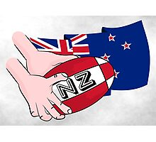 Rugby Ball New Zealand Photographic Print