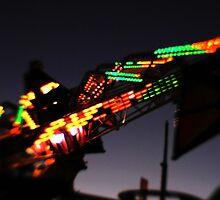 Fair ride at dusk by Terri-Anne Kingsley