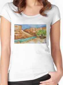 Soap Creek Women's Fitted Scoop T-Shirt