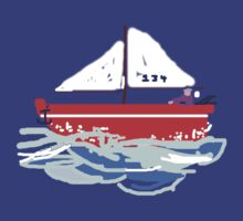 Sail Boat T SHIRT/STICKER by Shoshonan