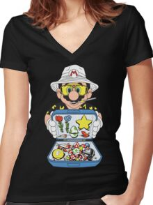 Koopa Country Women's Fitted V-Neck T-Shirt