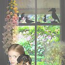 """""""Little girl with dachshund puppy"""" by Mary Taylor"""