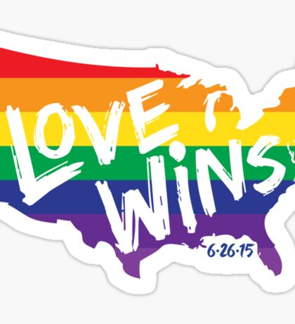 Love Wins Commemorative Art Sticker