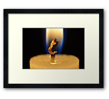 Hooked On Candle Light Framed Print