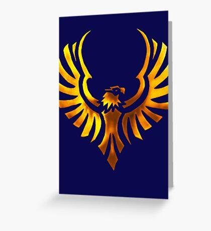 Phoenix - Golden Greeting Card