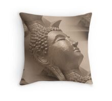 The many faces of Buddha Throw Pillow