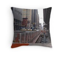 Rush hour at the New York Times Throw Pillow