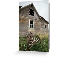 Wagonwheel Farmhouse  Greeting Card