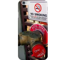 NO SMOKING AUTO SPKR - Tagged iPhone Case/Skin