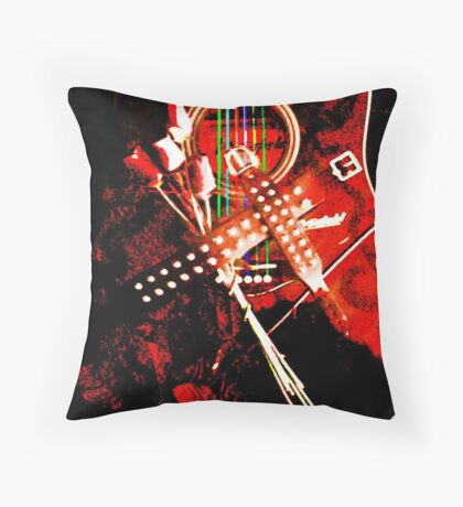Music- The Metal soul Throw Pillow