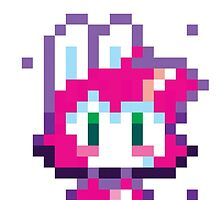 Pixel Bunny Face by rabbitrabbit