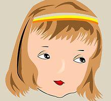 Beautiful girl face by Laschon Robert Paul