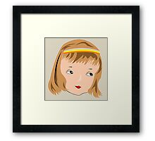 Beautiful girl face Framed Print