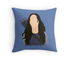 Vector Katniss Throw Pillow