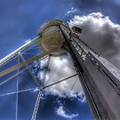 The water tower in downtown Gilbert by Mike Olbinski