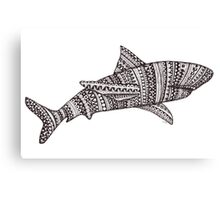 Patterned Shark Canvas Print