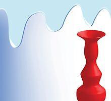 Beautiful red vase by Laschon Robert Paul