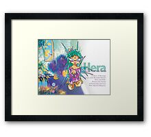 Chibi Hera - Greek Gods, Blue Series Framed Print
