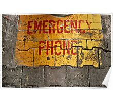 Emergency Phone Poster