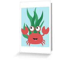 Cartoon Crab Greeting Card
