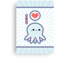 Cute Blue Octopus Canvas Print