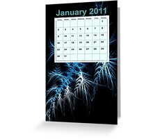 calendar 2011: January Greeting Card