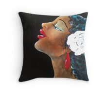 Lady Song Throw Pillow