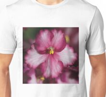 Dark Pinky-red African Violets  Unisex T-Shirt