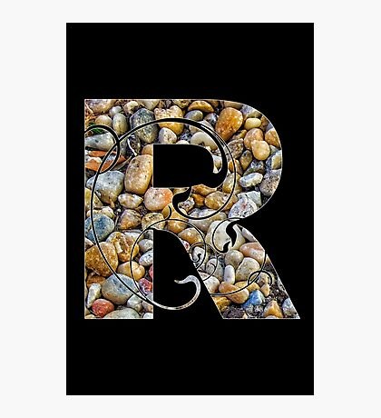 R is for rocks Photographic Print