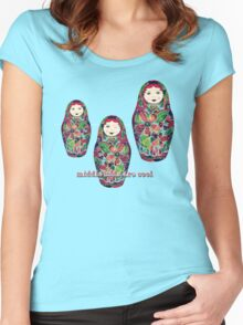 Middle Kids Are Cool Women's Fitted Scoop T-Shirt