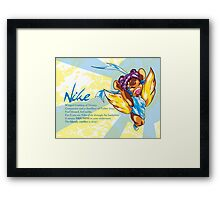 Chibi Nike - Greek Gods, Blue Series Framed Print